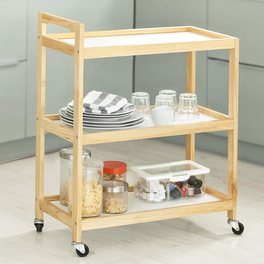 SoBuy® Küchenregal,Küchenwagen,Servierwagen,Küchenschrank ...