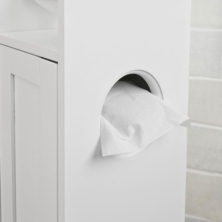 sobuy armoire salle de bain toilette tag re support papier wc frg135 w fr ebay. Black Bedroom Furniture Sets. Home Design Ideas