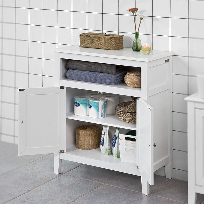 sobuy 174 meuble bas de salle de bain armoire toilette buffet
