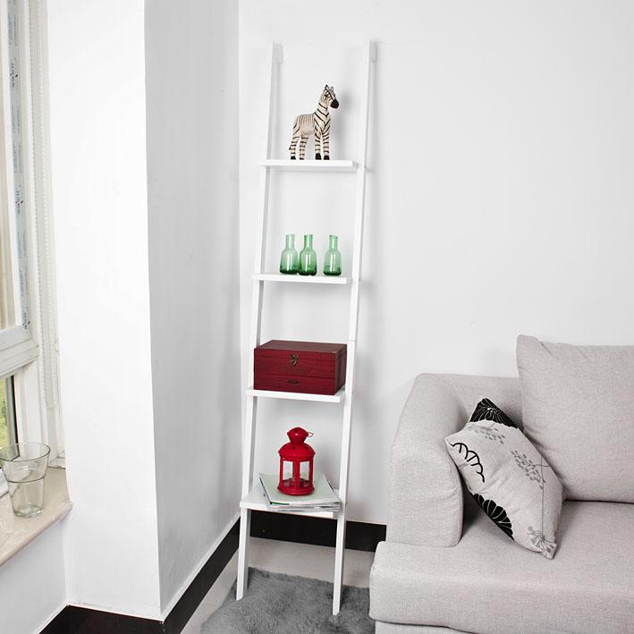 Sobuy scaffale a scala libreria 4 ripiani bianco frg15 w for Libreria a scala ikea