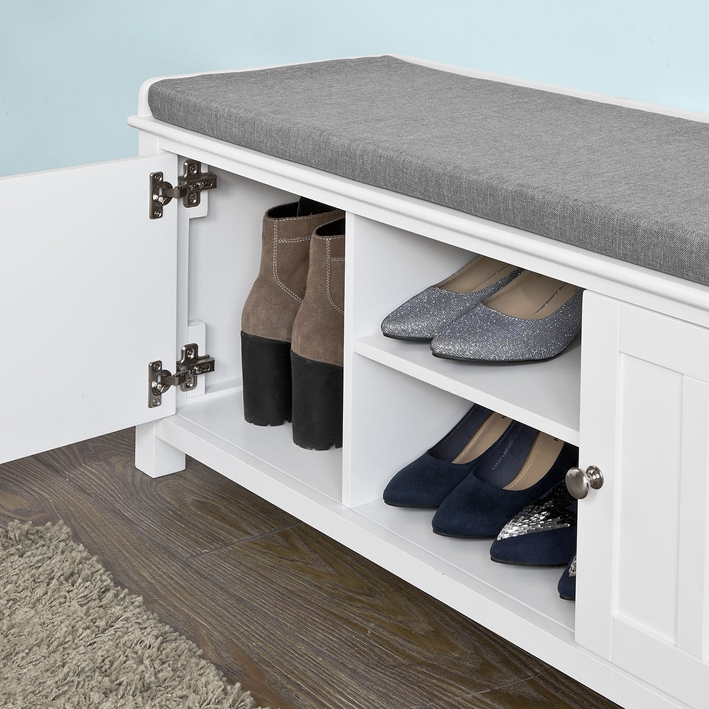 Easy Living Footwear Junction Fair Home: SoBuy® Shoe Storage Bench With Doors, Storage Cubes & Seat