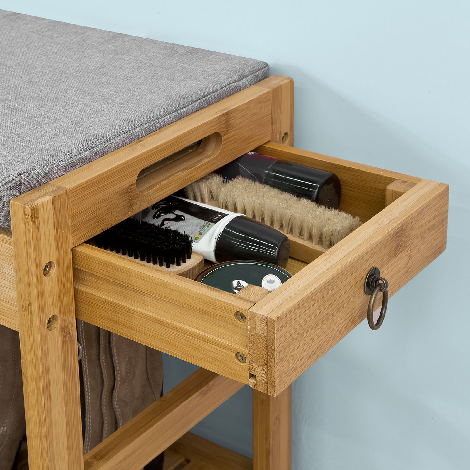 Sobuy 174 Padded Hallway Shoe Storage Rack Bench Seat With