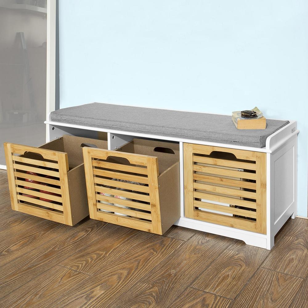 sobuy schuhbank sitzbank schuhregal schuhschrank schuhtruhe fsr23 wn ebay. Black Bedroom Furniture Sets. Home Design Ideas