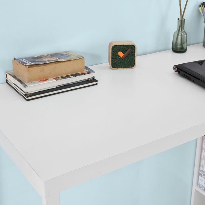 Details zu SoBuy® Bartisch,Beistelltisch,Stehtisch,Küchentheke,Küchenbartisch,Weiß,FWT39 W