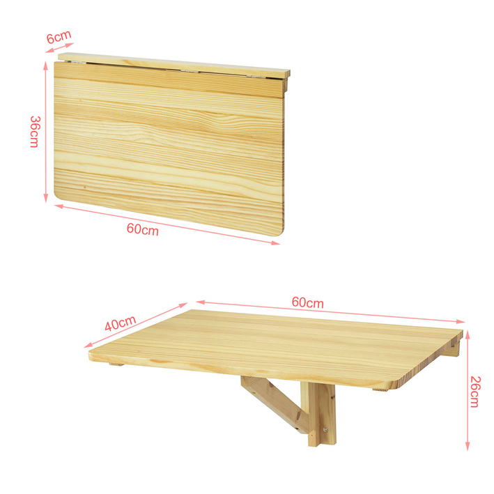 Sobuy tavolo pieghevole a muro tavolo da cucina senza sedia fwt03 n it ebay - Tavolo a muro cucina ...